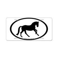 Canter Horse Oval Aluminum License Plate