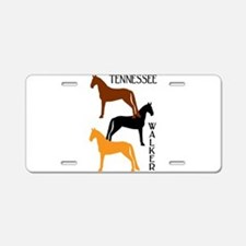 Tennessee Walkers in Colors Aluminum License Plate