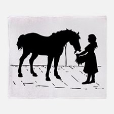 Horse & Girl Throw Blanket