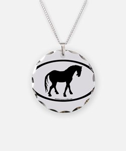 Tang Horse #4 Oval Necklace