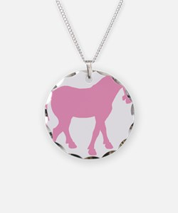 Pink Tang Horse #4 Necklace