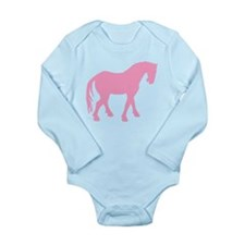 Pink Tang Horse #4 Long Sleeve Infant Bodysuit