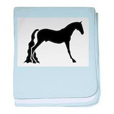 saddle horse baby blanket