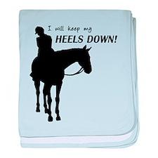 Keep My Heels Down baby blanket