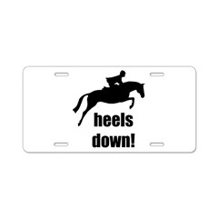 heels down jumper Aluminum License Plate