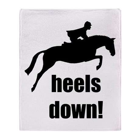 heels down jumper Throw Blanket