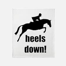 heels down jumper Throw Blanket
