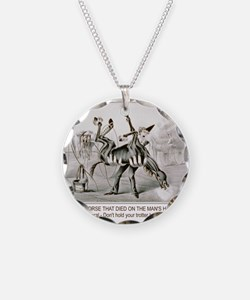 Horse trotter humor Necklace