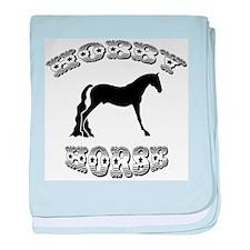 Hobby Horse baby blanket