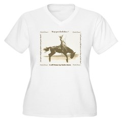 heels down cowgirl T-Shirt