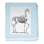 Skeleton Horse baby blanket