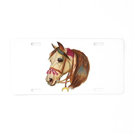 Arabian Horse Illustration Aluminum License Plate