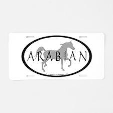 Arabian Horse Text & Oval (gr Aluminum License