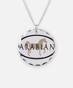 Arabian Horse & Text Oval (ta Necklace