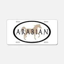 Arabian Horse & Text Oval (ta Aluminum License