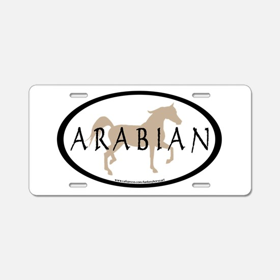 Arabian Horse & Text Oval (ta Aluminum License