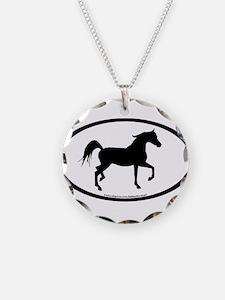 Arabian Horse Oval Necklace