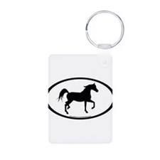 Arabian Horse Oval Keychains