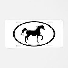 Arabian Horse Oval Aluminum License Plate