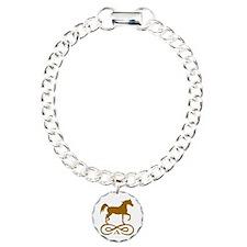Gold Infinity Arabian Charm Bracelet, One Charm