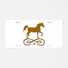 Gold Infinity Arabian Aluminum License Plate