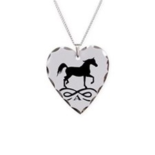 Infinity Arabian Horse Necklace Heart Charm