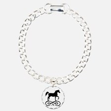 Infinity Arabian Horse Charm Bracelet, One Charm