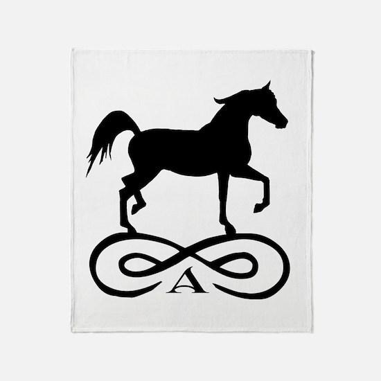 Infinity Arabian Horse Throw Blanket