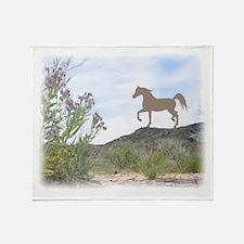 desert flower arabian Throw Blanket