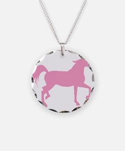Pink Arabian Horse Necklace