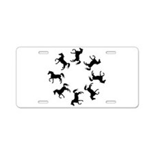 Circle of Horses Aluminum License Plate