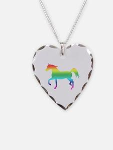 Rainbow Arabian Horse Necklace