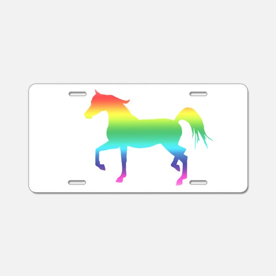 Rainbow Arabian Horse Aluminum License Plate
