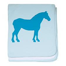 Blue Draft Horse baby blanket