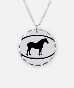 Draft Horse Oval Necklace