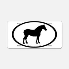 Draft Horse Oval Aluminum License Plate