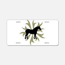 Draft Horse Sage Tribal Aluminum License Plate