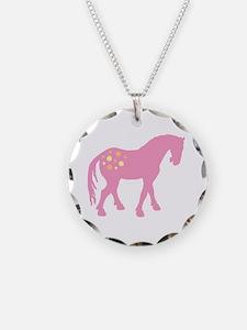 Cute Pink Appaloosa Necklace