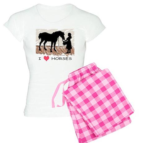 Horse & Girl (version w/ colo Women's Light Pa