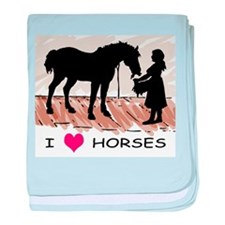 Horse & Girl (version w/ colo baby blanket
