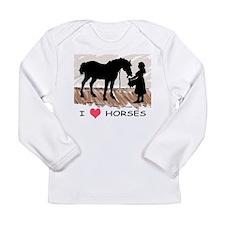 Horse & Girl (version w/ colo Long Sleeve Infa