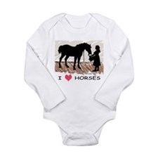 Horse & Girl (version w/ colo Long Sleeve Infa