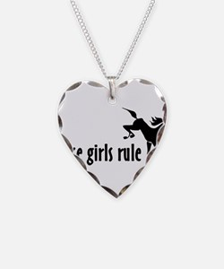 horse girls rule Necklace