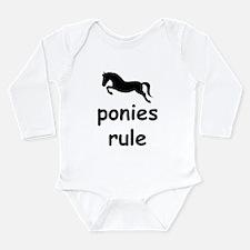 ponies rule Long Sleeve Infant Bodysuit