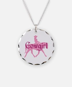 Pink Cowgirl w/ Text Necklace
