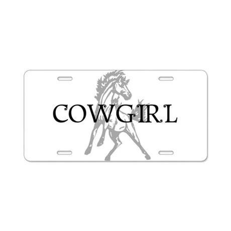 cowgirl & mustang Aluminum License Plate