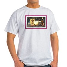 Pharmacy Stamp Ash Grey T-Shirt