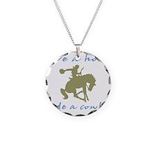 Ride A Cowboy (green/blue) Necklace Circle Charm