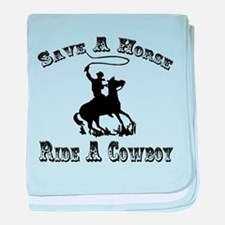 Ride A Cowboy baby blanket