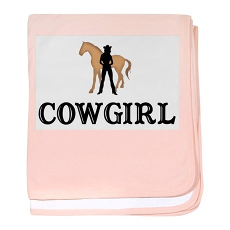 Cowgirl & Horse baby blanket